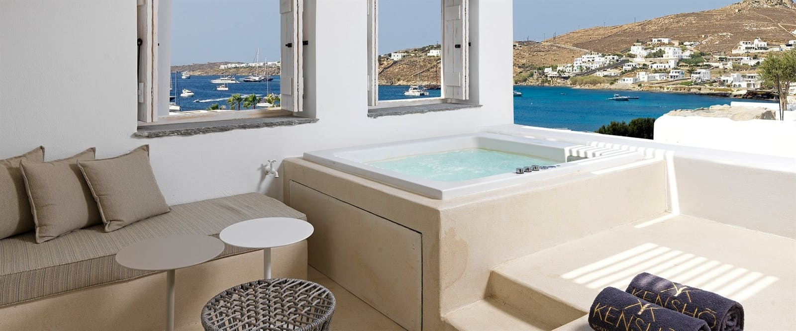 Junior Suite with Outdoor Hot Tub at Kenshõ Boutique Hotel & Suites, Ornos, Greece