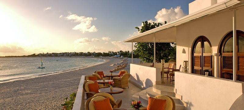 Beach club at Cap Juluca, Anguilla