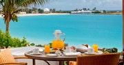 Breakfast on the terrace at Cap Juluca, Anguilla