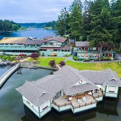 Birds eye view of April Point Spa Resort & Marina