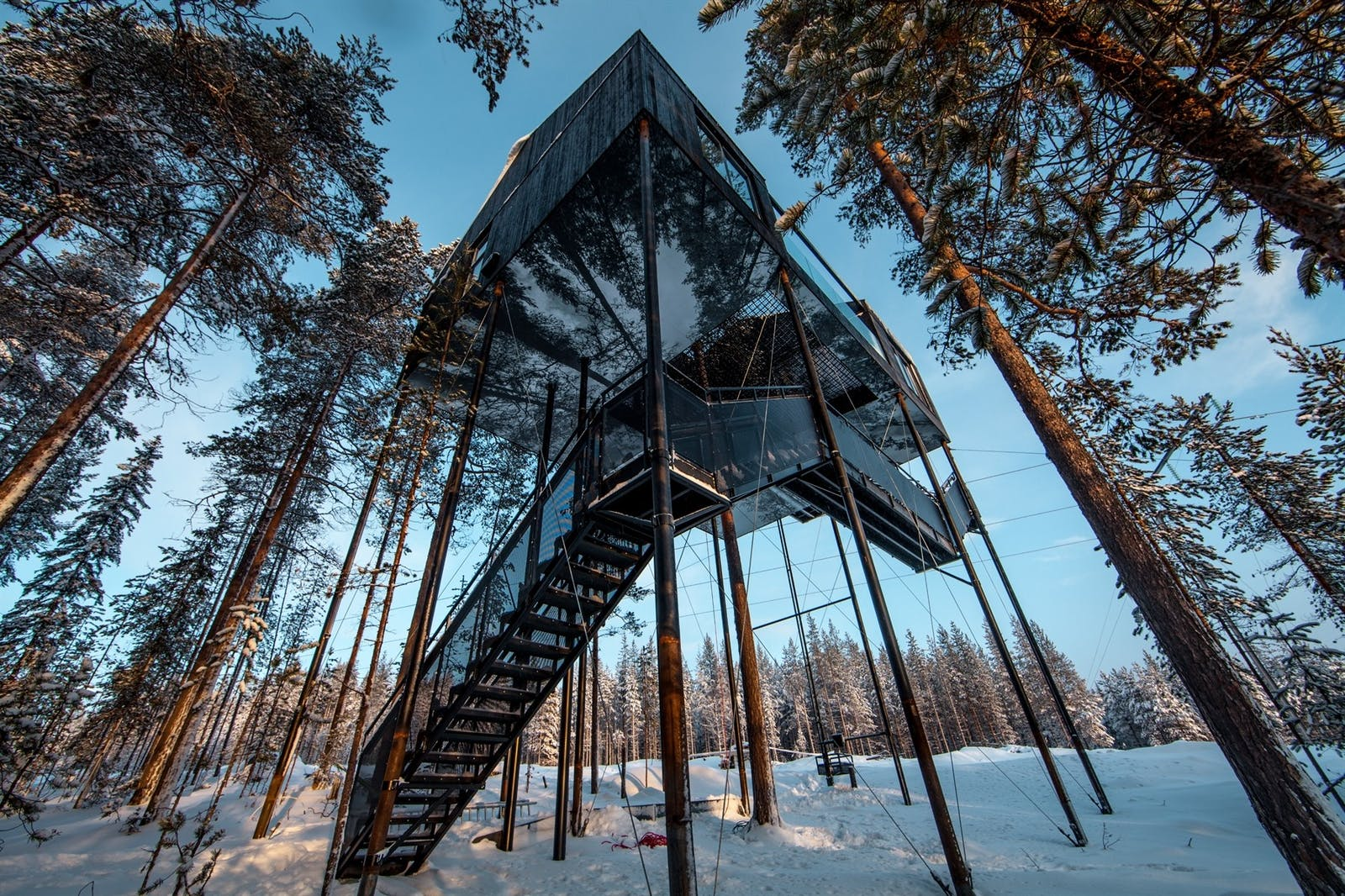 Unique accommodation at Treehotel, Sweden