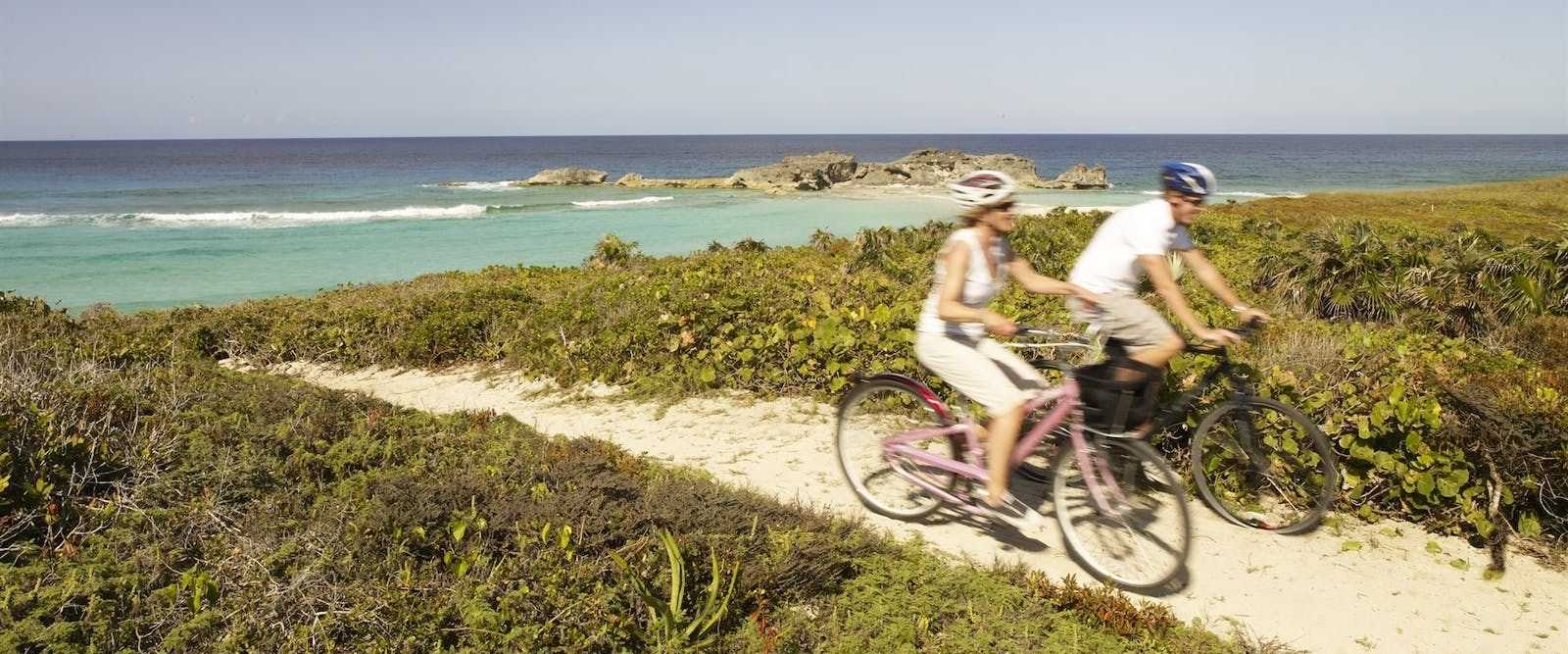 Cycling on the island at COMO Parrot Cay, Turks and Caicos