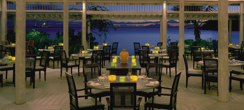 Relaxing restaurant along the beach side at Carlisle Bay, Antigua