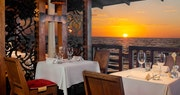Restaurant overlooking the ocean at The House by Elegant Hotels, Barbados