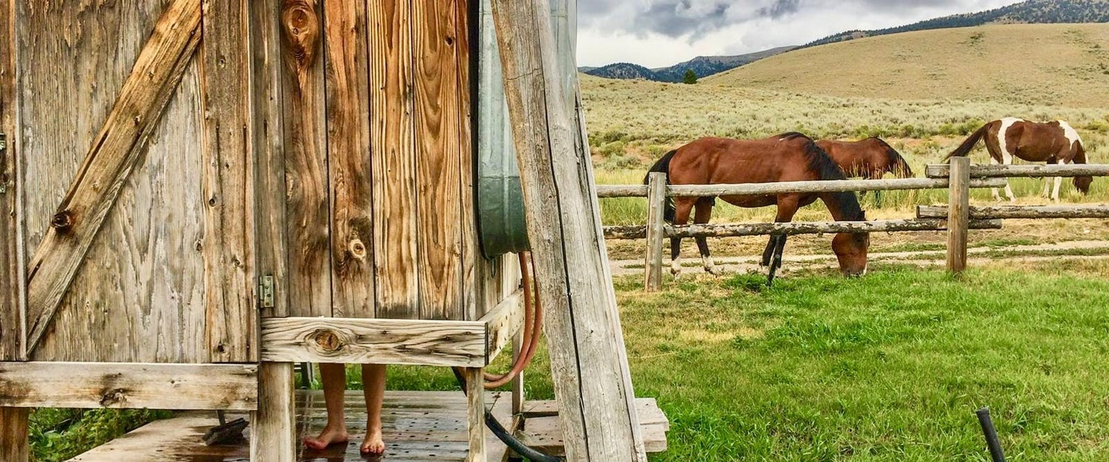 The Shower House at Medicine Lodge Horse Drives at Silver Spur Ranch