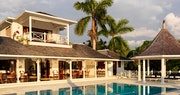 Poolside decking area at Round Hill Villas, Jamaica