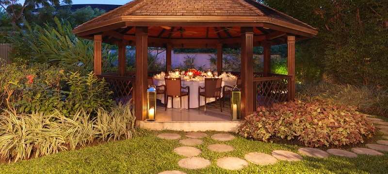 Private dining in the gazebo at The Villa Sandy Lane, Barbados