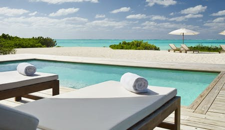 Two bedroom beach house deck at COMO Parrot Cay, Turks and Caicos