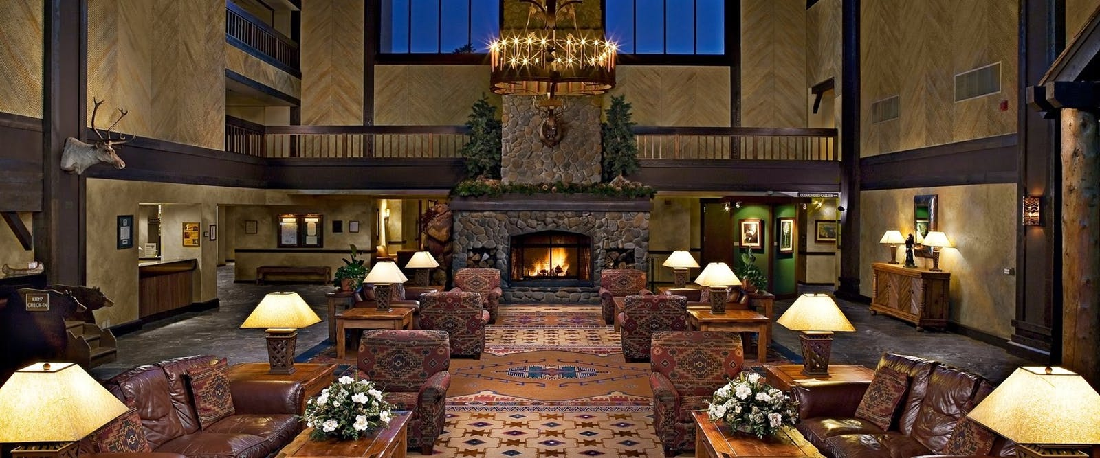 Grand Lobby at Tenaya Lodge, California