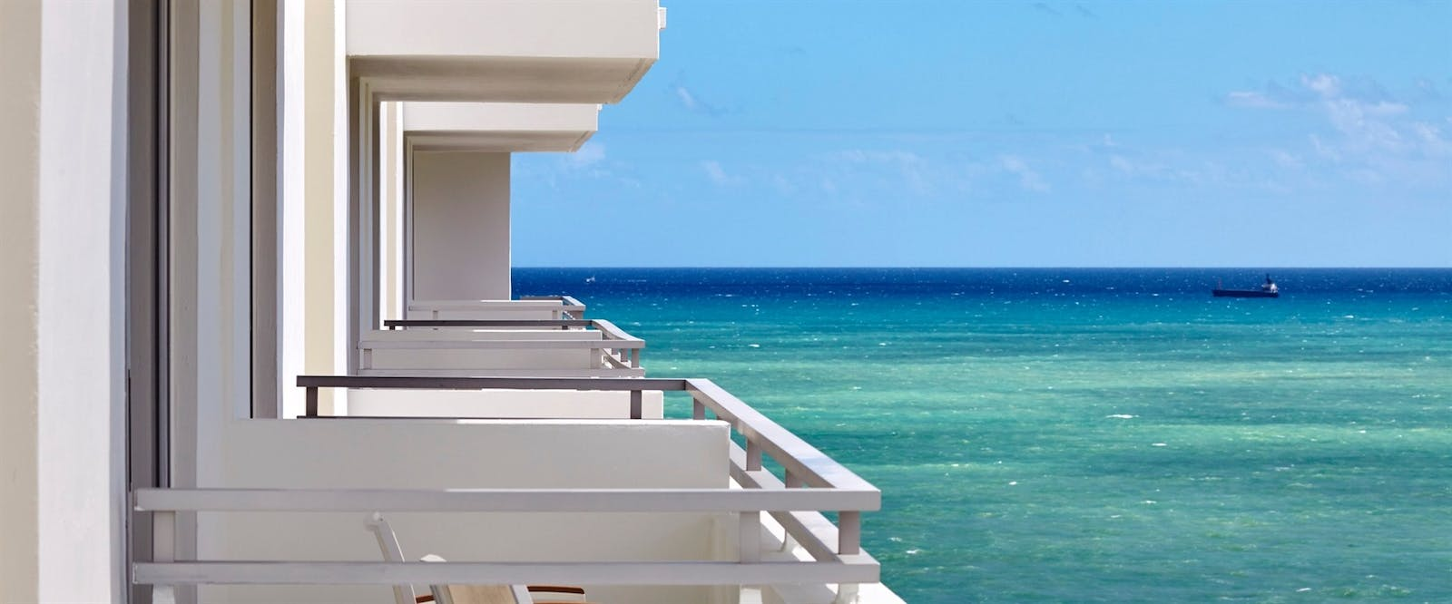 views from ocean view balcony rooms at loews miami beach