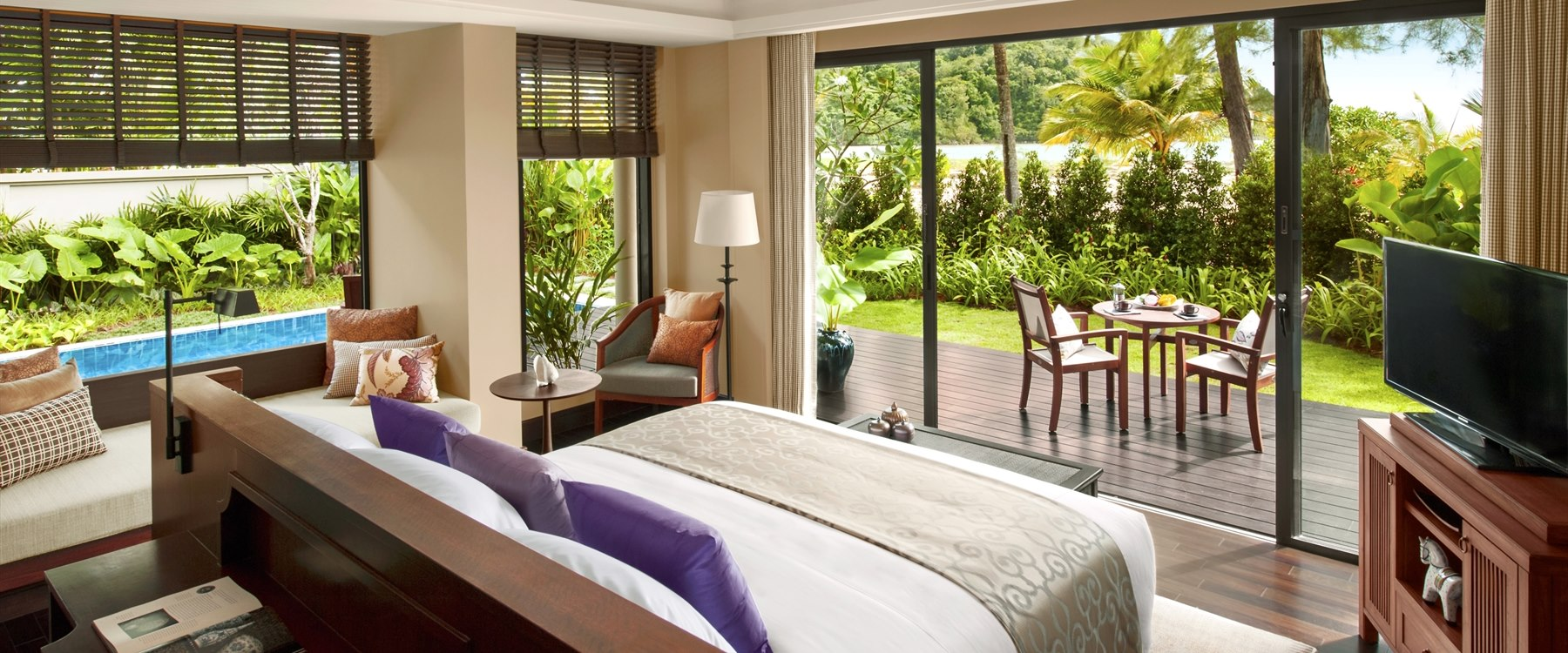 Beach Villa Master Bedroom at Anantara Layan Phuket Resort, Thailand