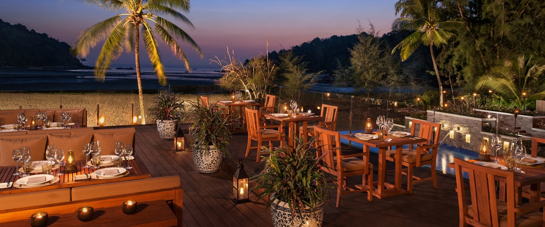 Layan Restaurant Deck at Anantara Layan Phuket Resort, Thailand