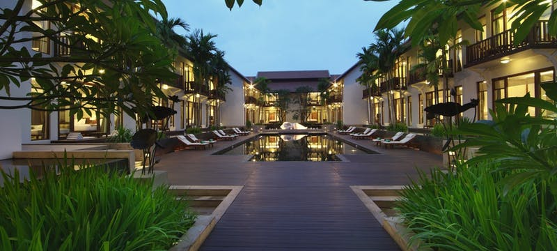 Heart of the resort at Anantara Angkor Resort, Cambodia