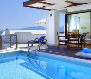 executive suite with private pool at St Nicolas Bay, Crete, Greece