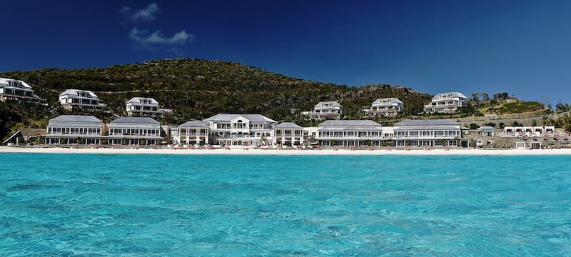 View of the resort from the ocean at Pink Sands Club