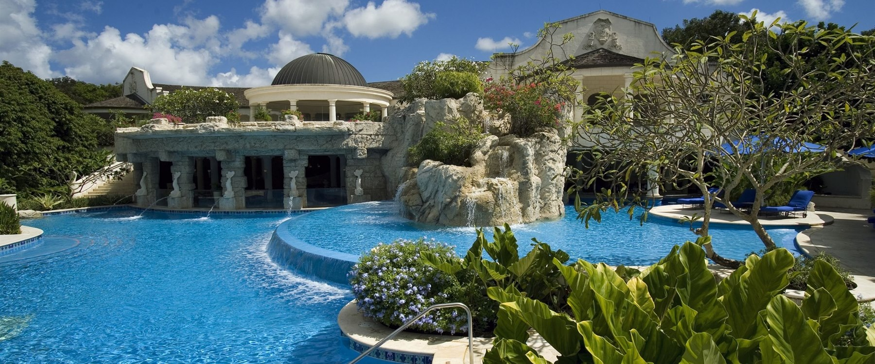 Stunning pool area at Sandy Lane, Barbados