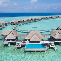 Ariel View of Anantara Kihavah Maldives Villas, Indian Ocean