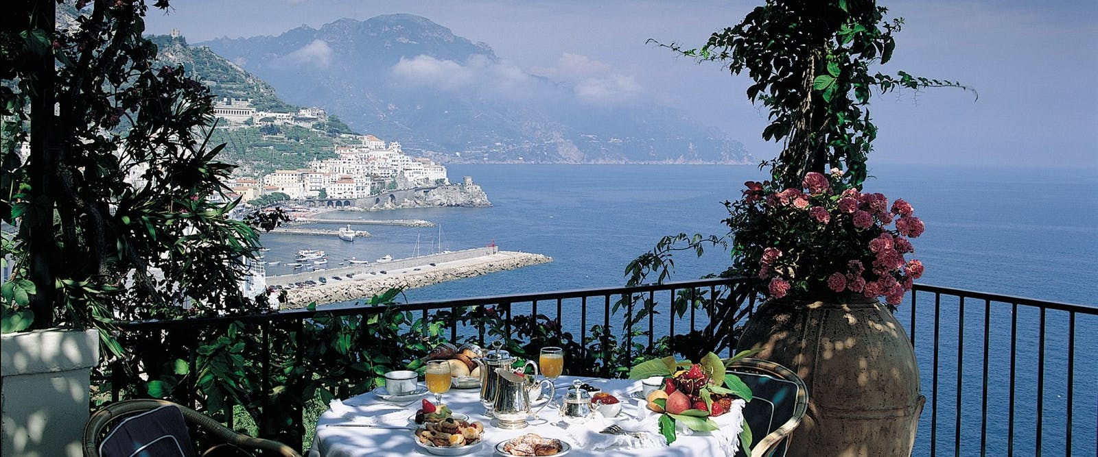Restaurant at Hotel Santa Caterina, Amalfi Coast, Italy