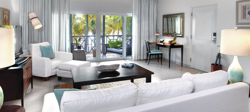 Ocean suite white doors at Carlisle Bay