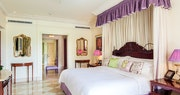 Main bedroom within the penthouse at Sandy Lane, Barbados