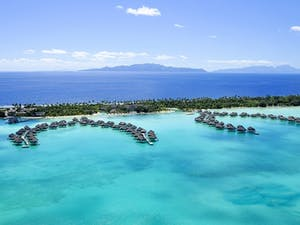 Ariel View of InterContinental Bora Bora Resort & Thalasso Spa, French Polynesia