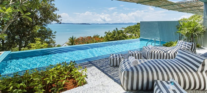 Pool suite balcony at COMO Point Yamu, Phuket, Thailand