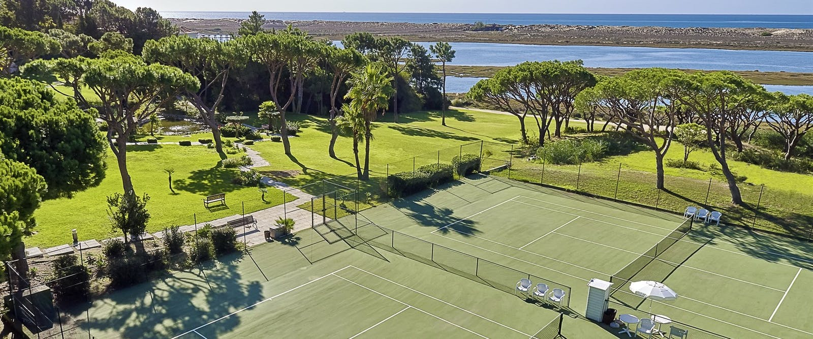 Tennis Courts at Hotel Quinta Do Lago, Algarve, Portugal