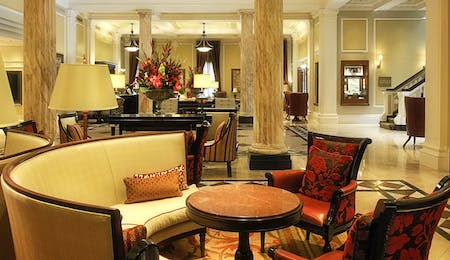 Lobby area of Taj Cape Town