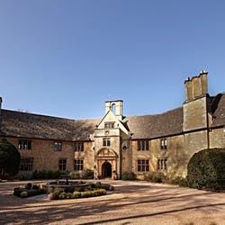 Exterior of Foxhill Manor, Farncombe Estate, England, UK