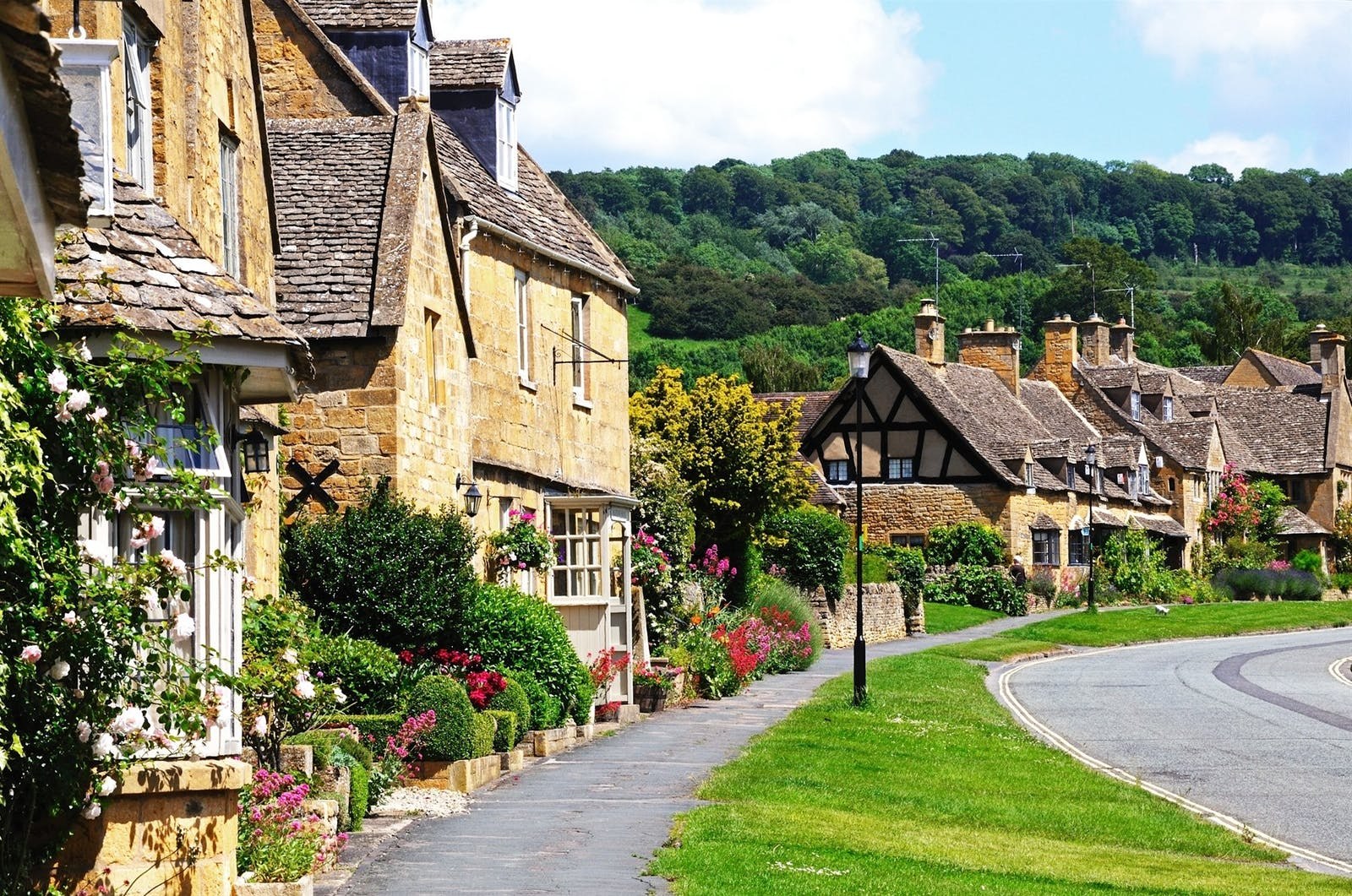 Broadway Village by the Foxhill Manor, Farncombe Estate, England, UK