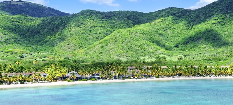 Stunning view of the beachfront at Carlisle Bay, Antigua