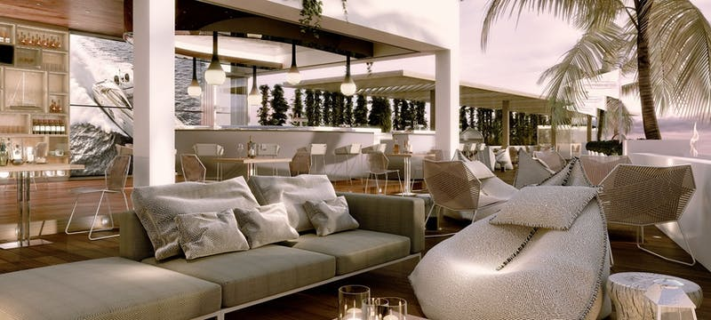 Dining at Pershing Bar at Seven Pines Resort, Ibiza