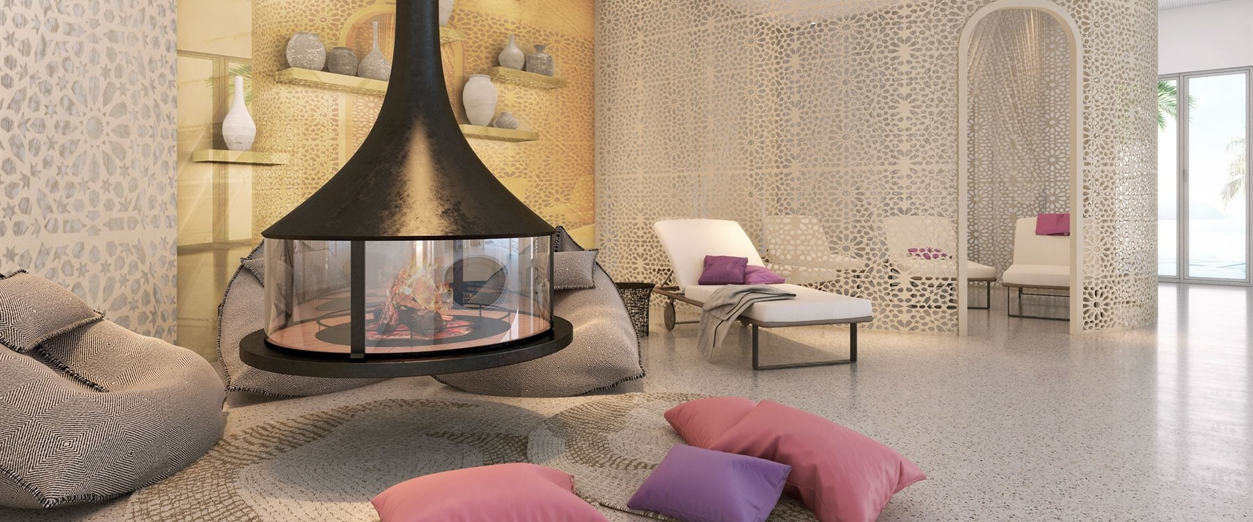 Spa Relaxation Room at Seven Pines Resort, Ibiza