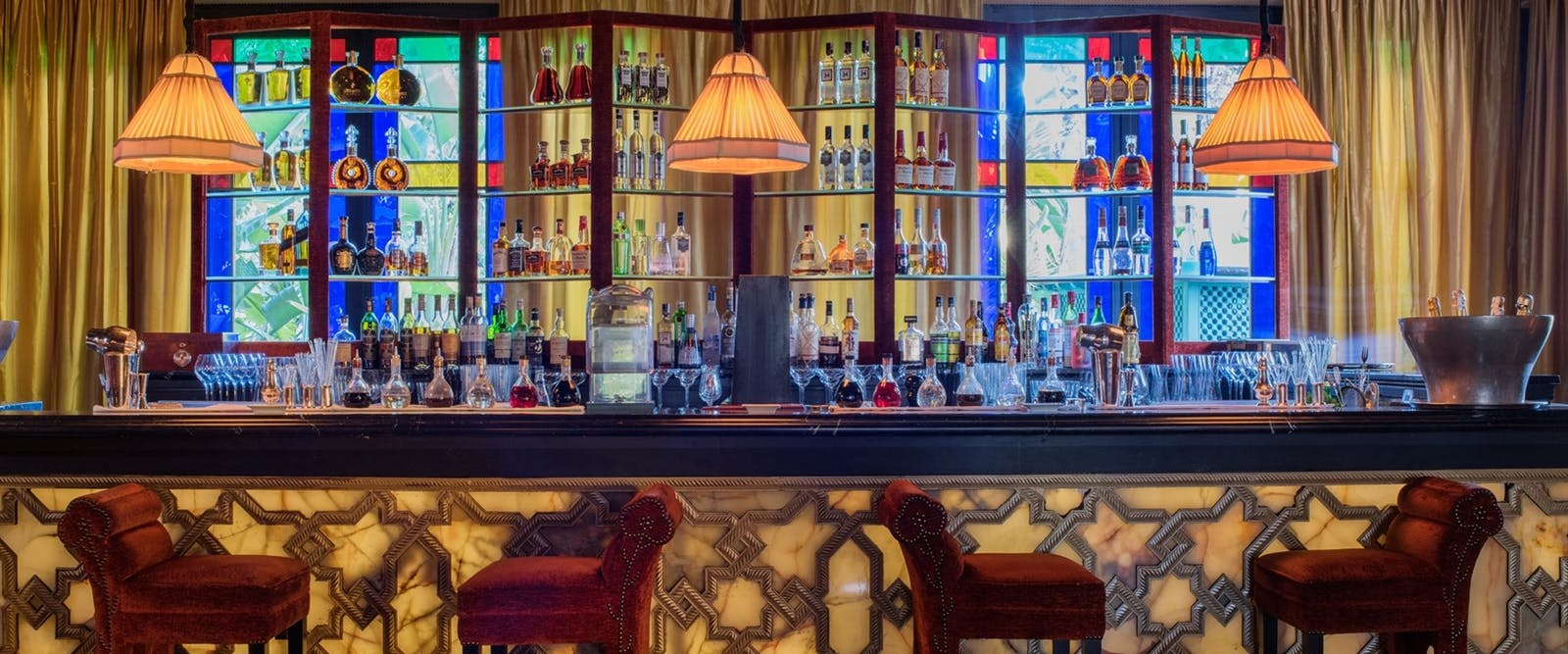 Italian Bar at La Mamounia, Marrakech, Morocco