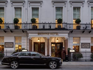 Exterior of Brown's Hotel, Rocco Forte, London
