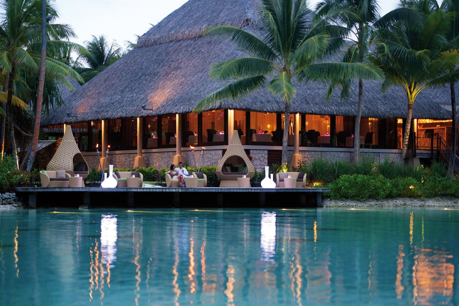 Dining at InterContinental Bora Bora Resort & Thalasso Spa, French Polynesia