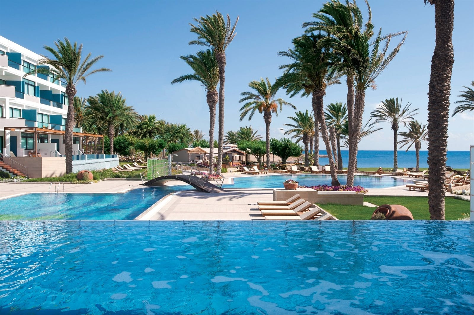 Swimming pool area at Constantinou Bros Asimina Suites Hotel, Almyra, Cyprus