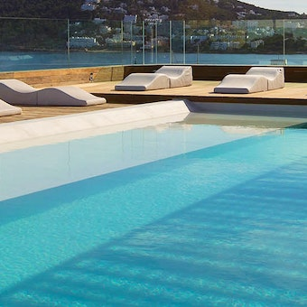 outside pool at Aguas De Ibiza