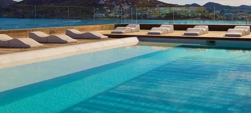 outside pool at Aguas De Ibiza