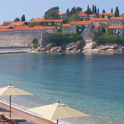 Beach Area at Aman Sveti Stefan, Montenegro
