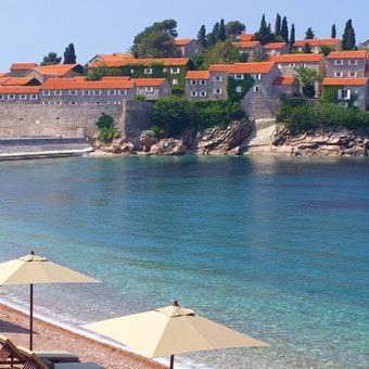 Beach Area at Aman Sveti Stefan