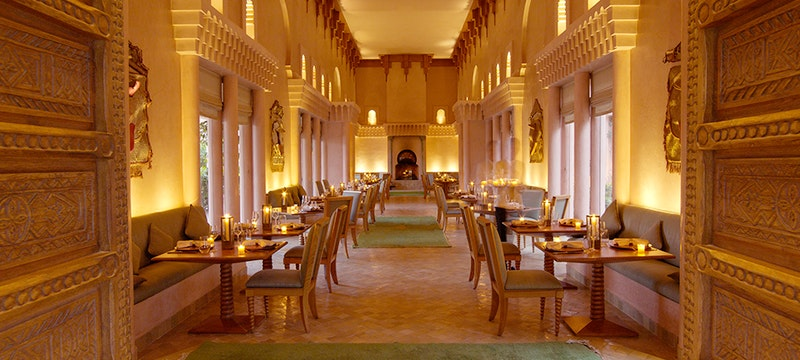 Indoor Restaurant at Amanjena, Marrakech