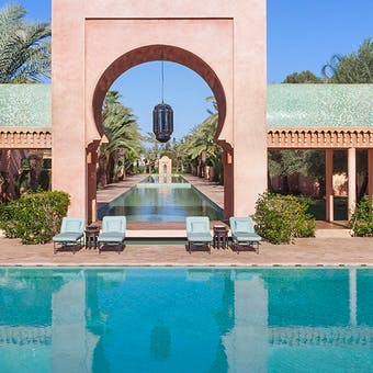 Pool and Property at Amanjena, Marrakech