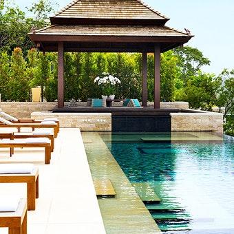 Pool area at Anantara Layan Phuket Resort