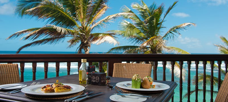 Dine with stunning ocean views at The Atlantis, Barbados