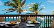 Dine with stunning ocean views at The Atlantis, Barbados