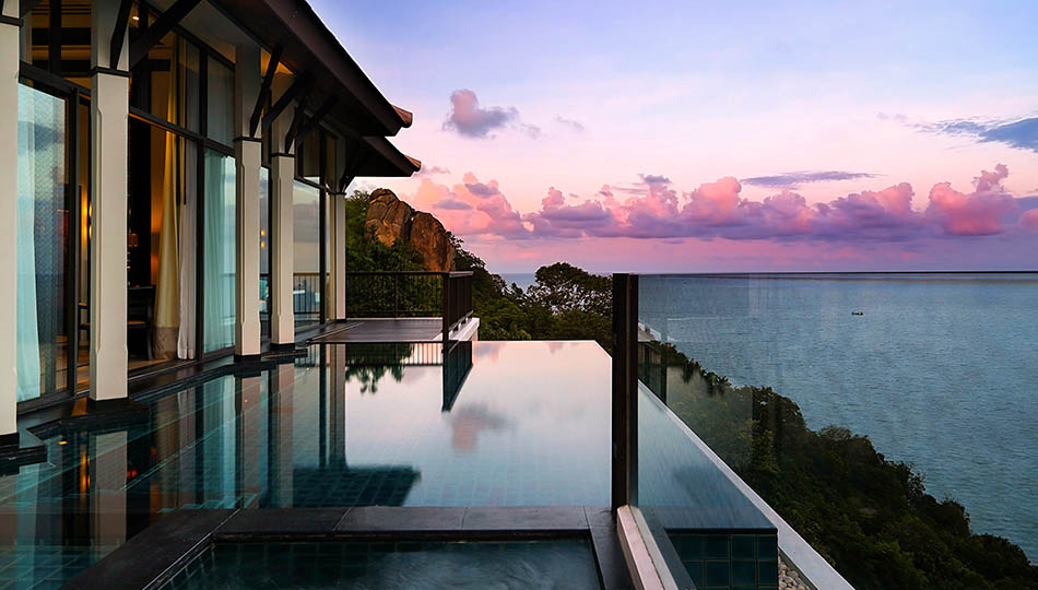 Swimming Pool at Banyan Tree Samui, Thailand