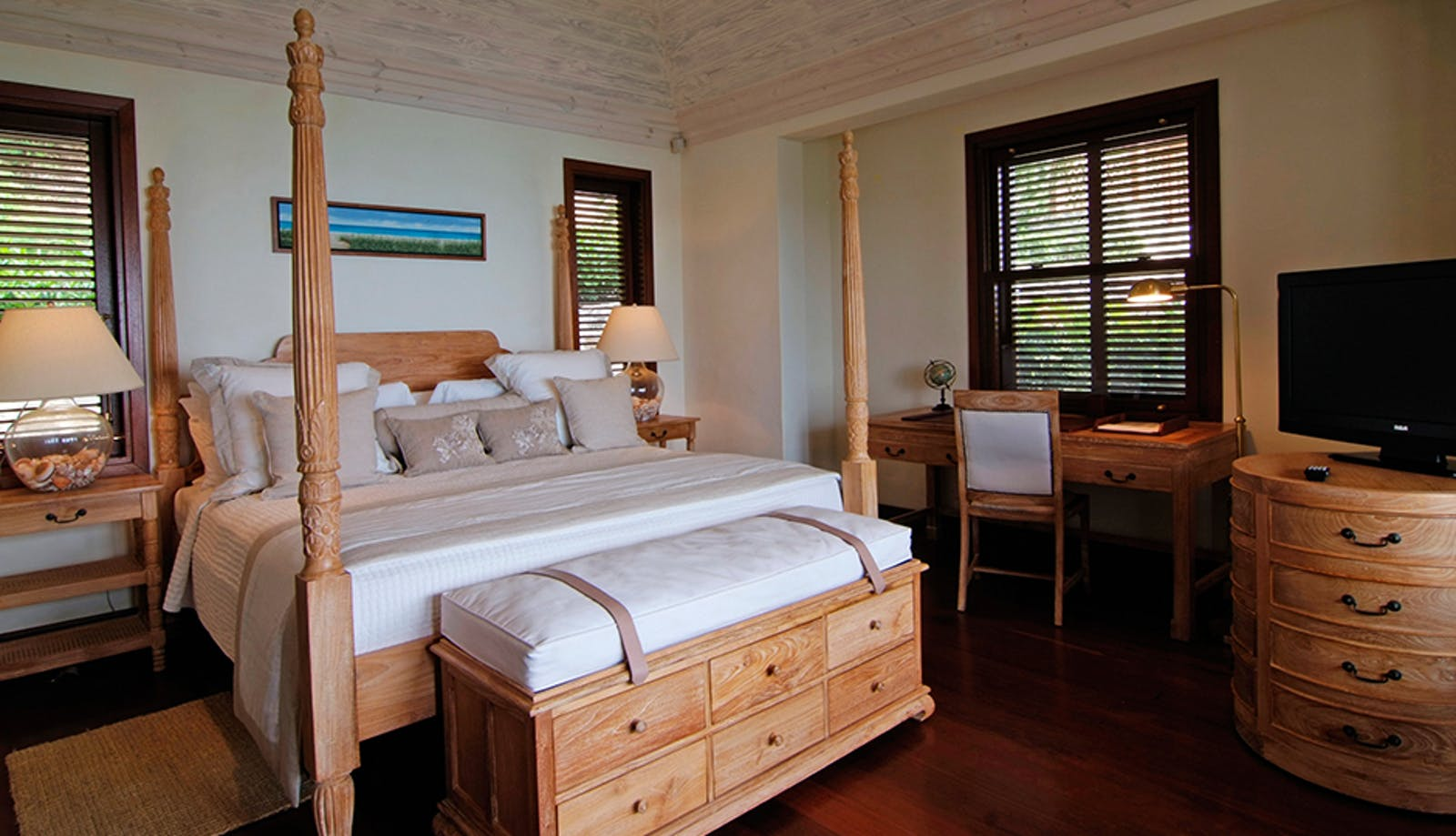 Bedroom at Beach House, Canouan