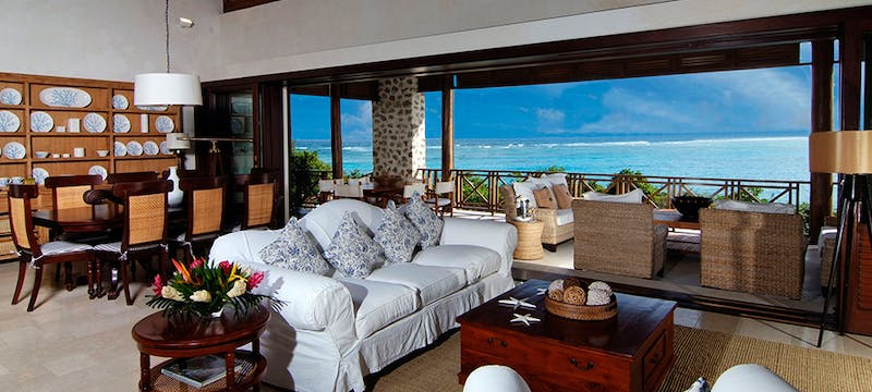 Living Room Area at Beach House, Canouan