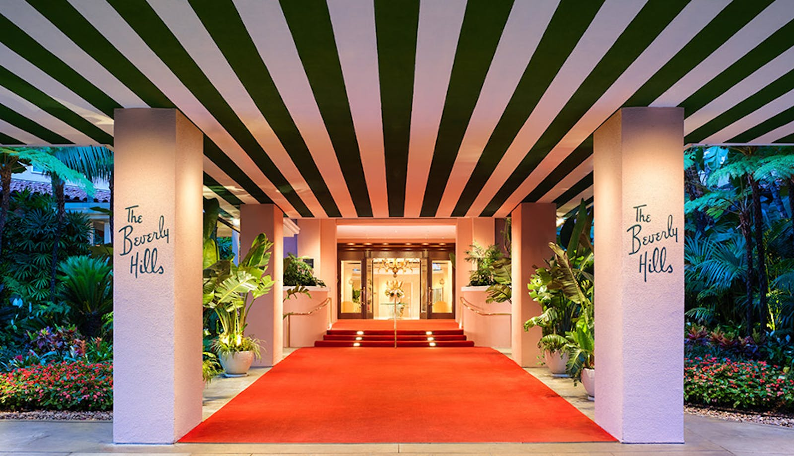 Beverly Hills Hotel - Red Carpet Entrance